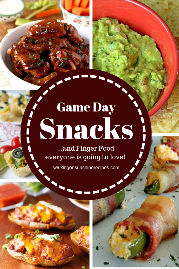 A few different Big Game Snack Recipes featured on Walking on Sunshine Recipes.