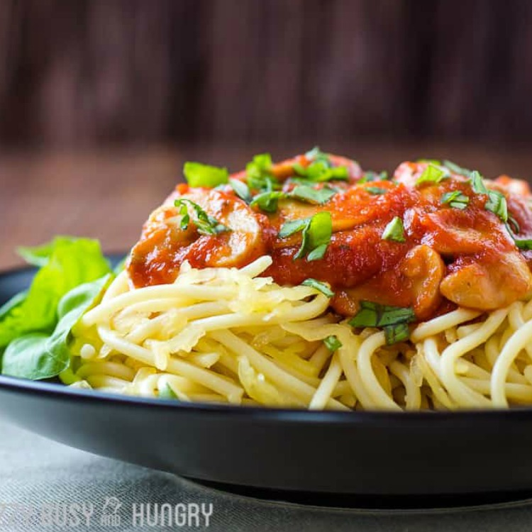 Healthy Diet-Friendly Spaghetti featured.