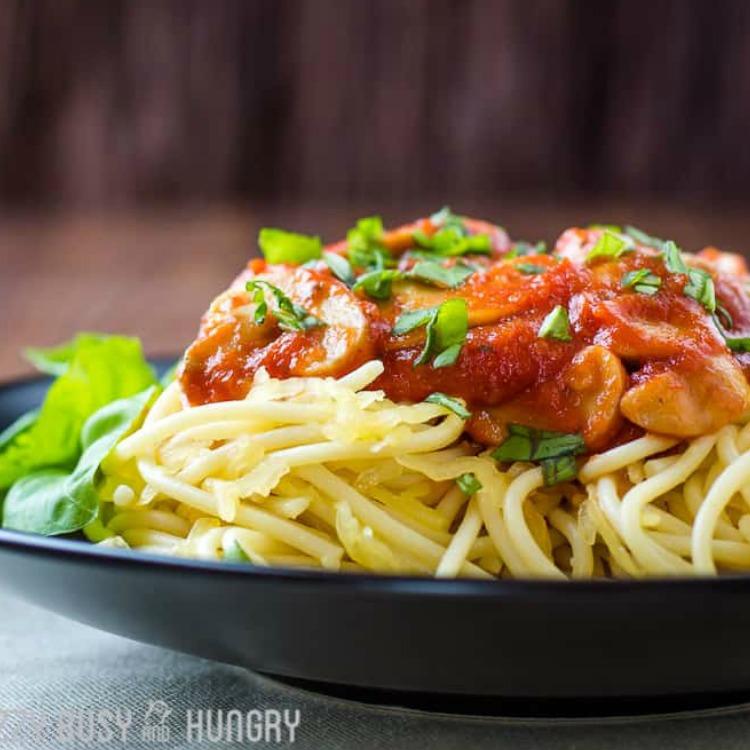 Healthy Diet-Friendly Spaghetti featured.