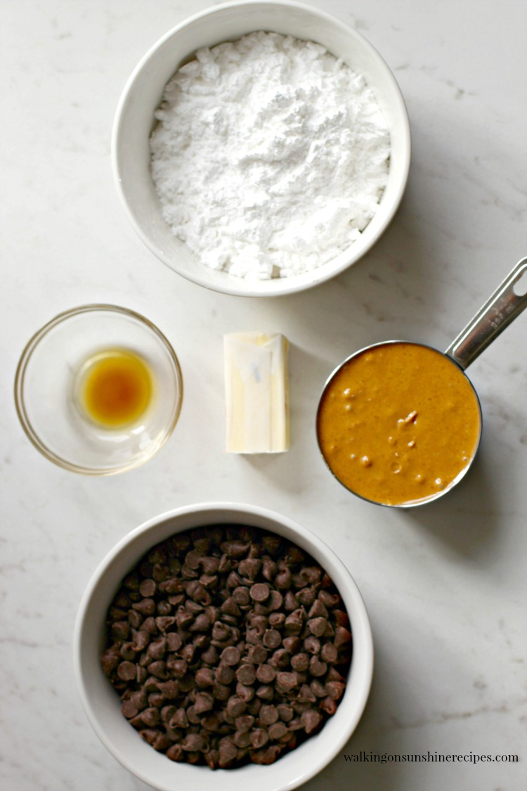 Ingredients for Chocolate Peanut Butter Hearts