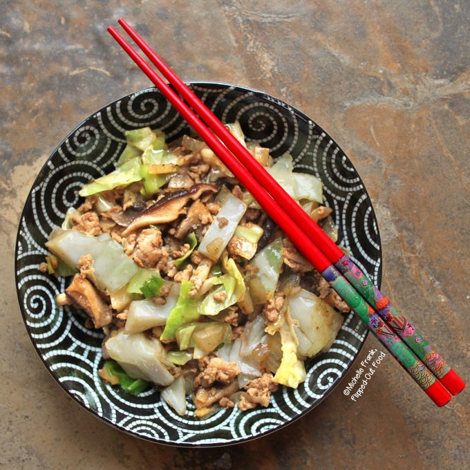 Inside Out Pork Egg Roll Bowls from Flipped Out Food
