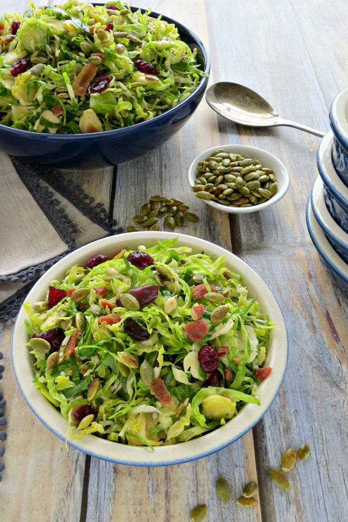 Shaved Brussels Sprouts Salad from 5 Minutes for Mom