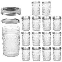 Mason Jars Canning Jars, 8 OZ Jelly Jars With Regular Lids and Bands