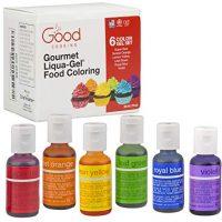 Food Coloring Liqua-Gel - 6 Color Rainbow Kit
