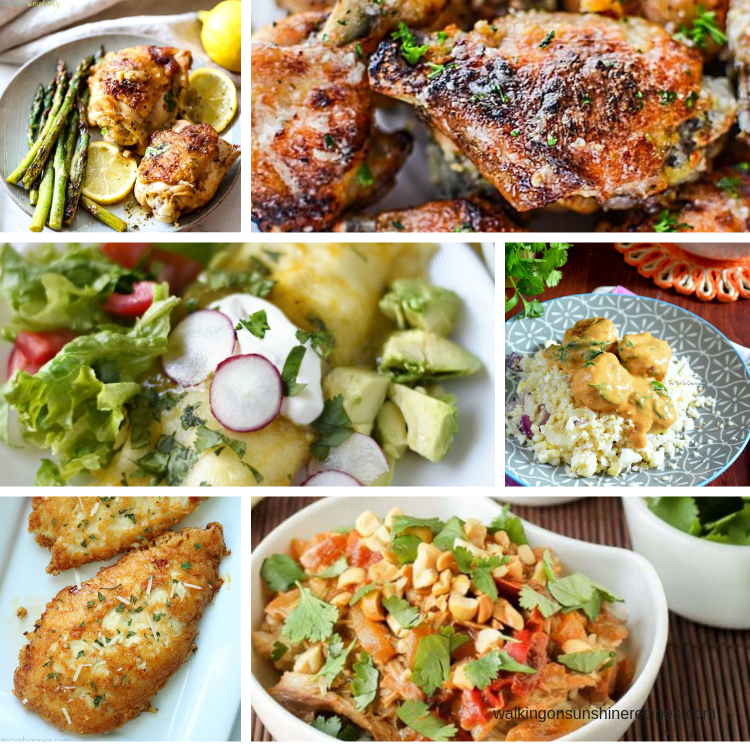 6 Chicken Recipes for our Weekly Meal Plan