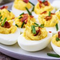 Instant Pot Deviled Eggs with Bacon