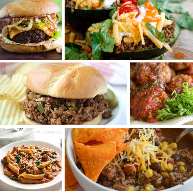 Ground Beef Recipes are featured this week with our Meal Plan.