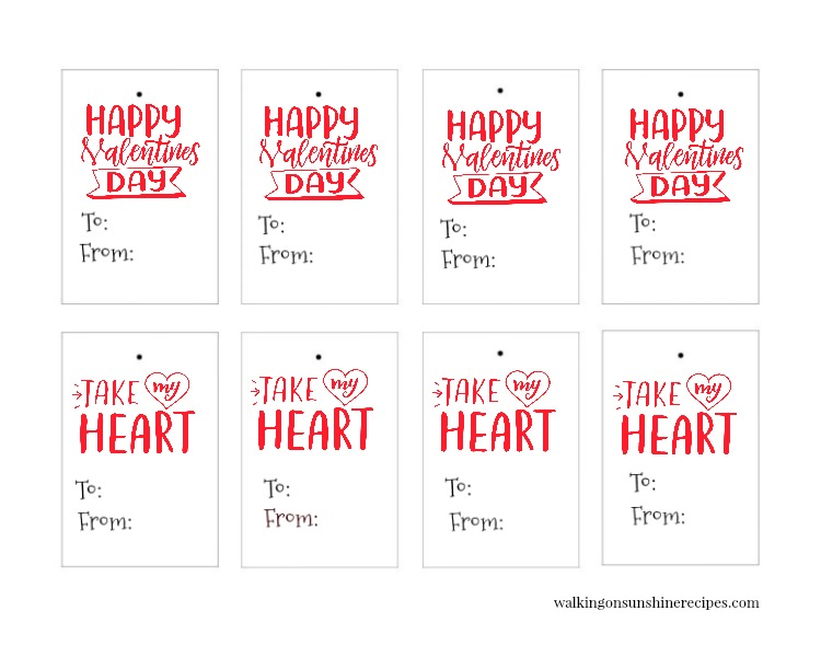 Take my heart Valentine's Day gift tags.