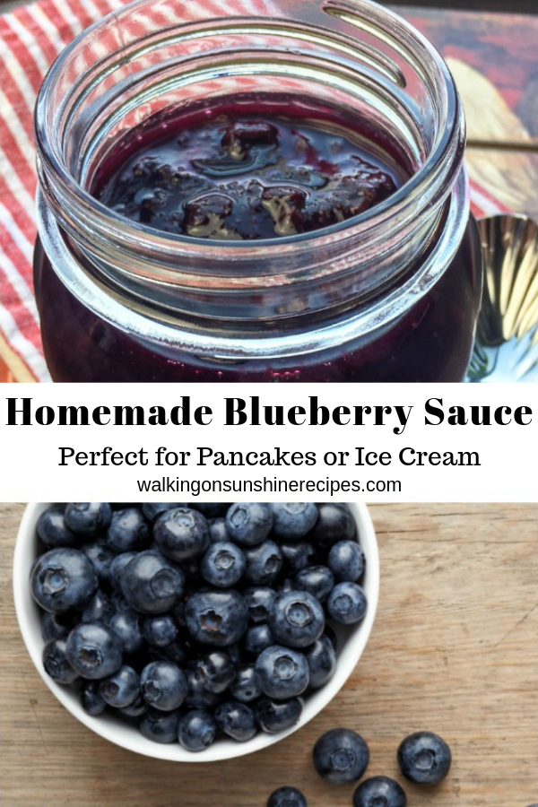 Homemade Blueberry Sauce - the perfect treat to pour over homemade pancakes or waffles.