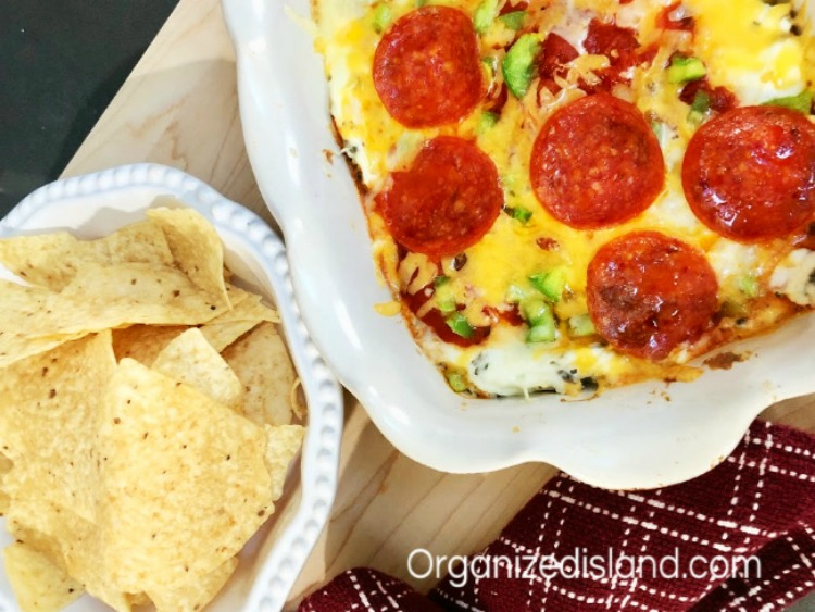 Easy Pizza Dip Appetizer from Organized Island