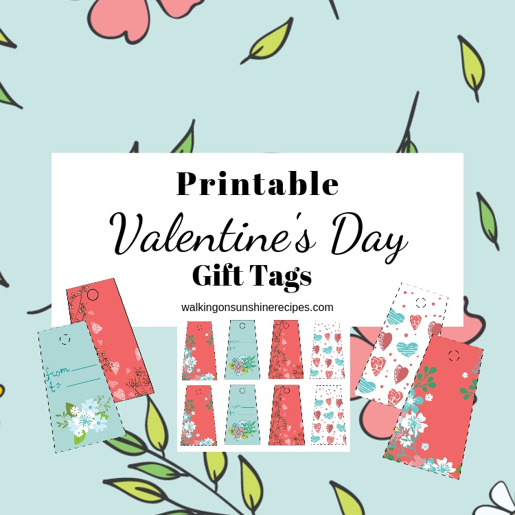 picture about Valentine's Day Tags Printable titled Printable Valentines Working day Present Tags Going for walks Upon Sunlight