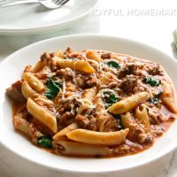 Beef and Spinach Pasta