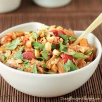 Slow Cooker Thai Spicy Peanut Chicken from Dizzy Busy and Hungry