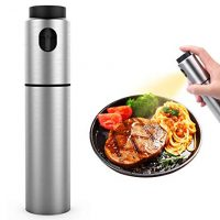 Stainless Steel Refillable Olive Oil sprayer for cooking, BBQ, Grilling and Roasting, Salad Oil Dressing, Cooking wine & Vinegar Sprayer