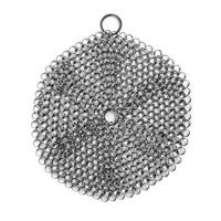Cast Iron Cleaner Stainless Steel Chainmail Pot Scrubber