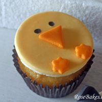 How to Make Fondant Chick Cupcake Toppers