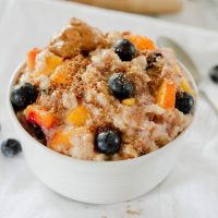 Blueberry Peach Oatmeal