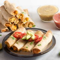 Easy 5 Ingredient Chicken Taquitos