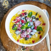 Turmeric Oatmeal - A Glowing Breakfast Bowl