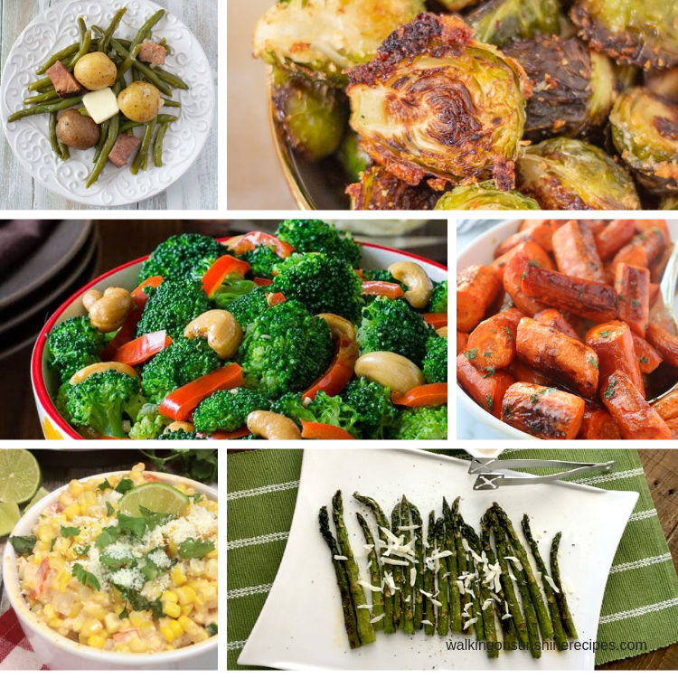 6 delicious vegetable side dish recipes.