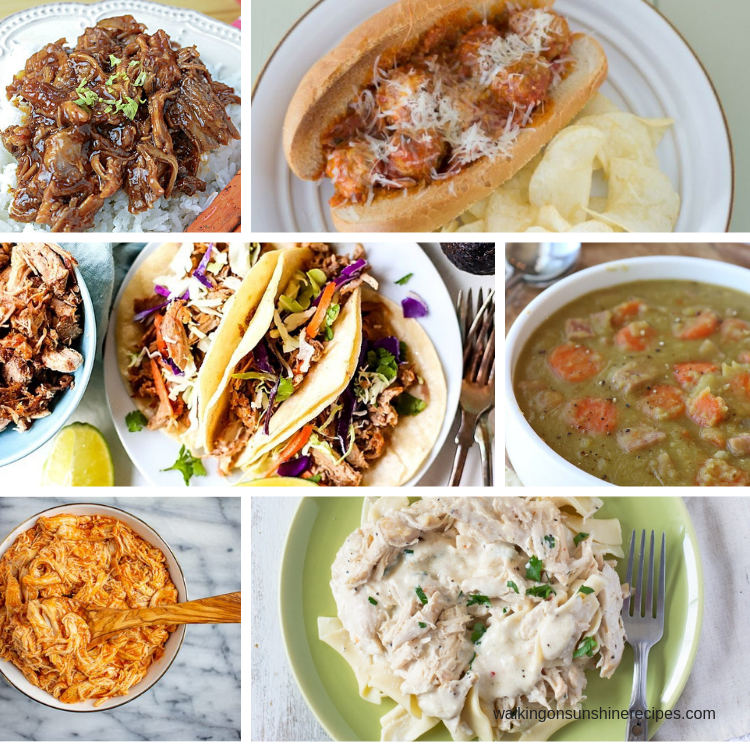 Delicious collection of slow cooker recipes for dinner.