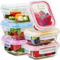 Glass Food Storage Containers with Lids - Microwave, Fridge, Freezer, Dishwasher, Oven Safe