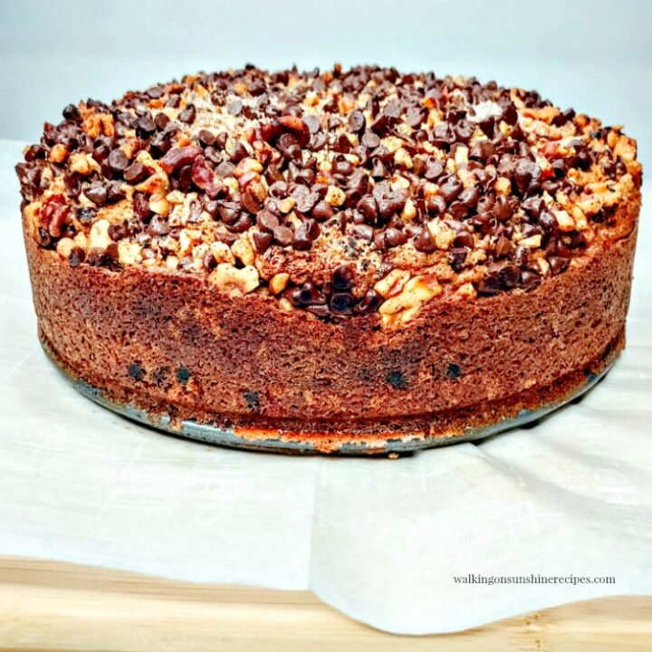 Chocolate Chip Streusel Coffee Cake with Walnuts