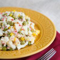 Russian Style Crab Salad Recipe - Natasha's Kitchen