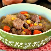 Crock Pot Soup ~ Simple Beef Vegetable Soup