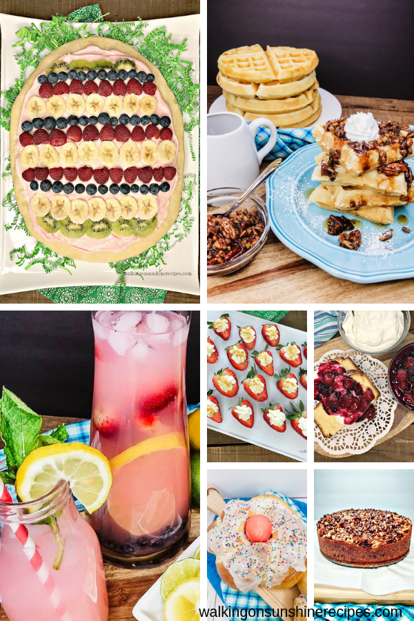 Delicious and easy brunch recipes for Easter Sunday.