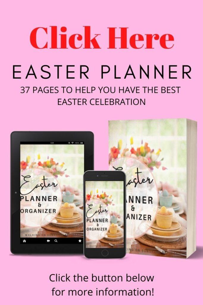 Easter planner printable ebook.