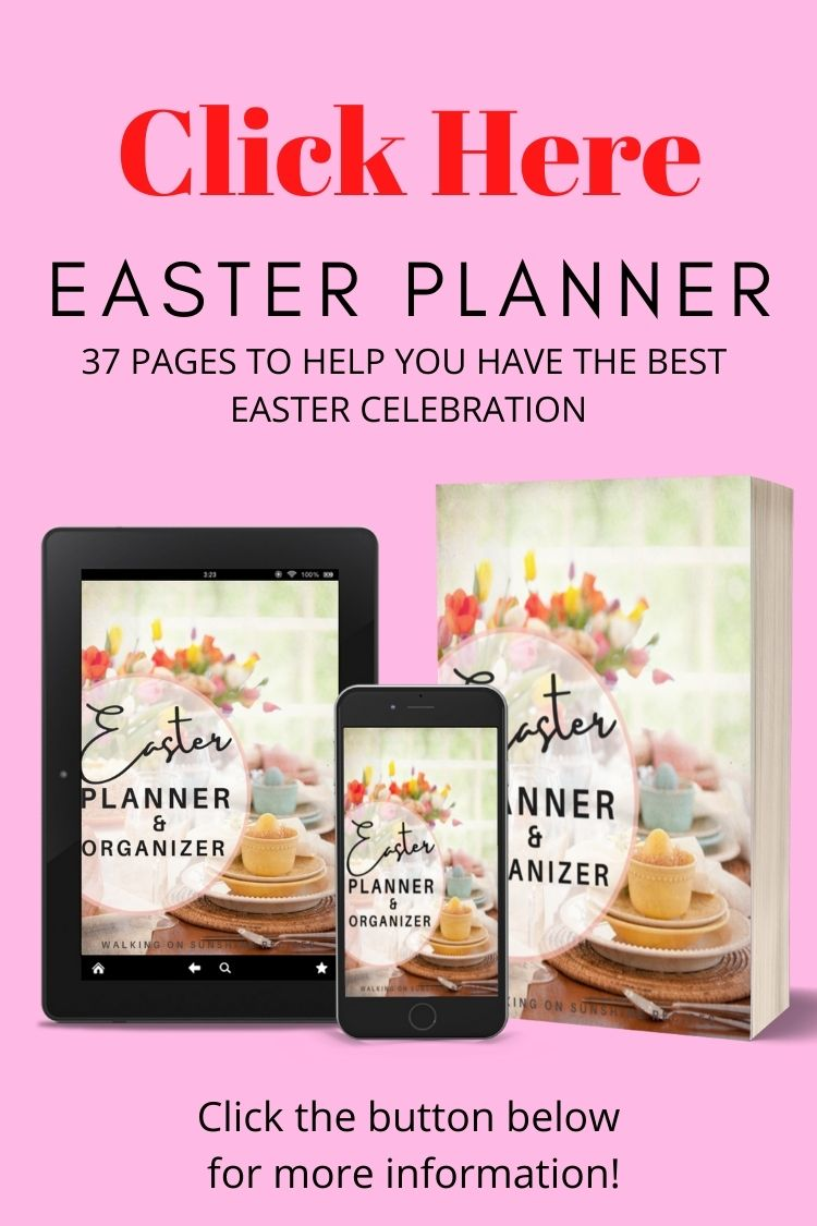 Easter planner printable ebook.