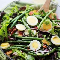 Green Bean and Egg Salad with Garlic Parmesan Vinaigrette