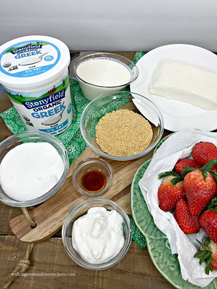 Ingredients for Cheesecake Stuffed Strawberries