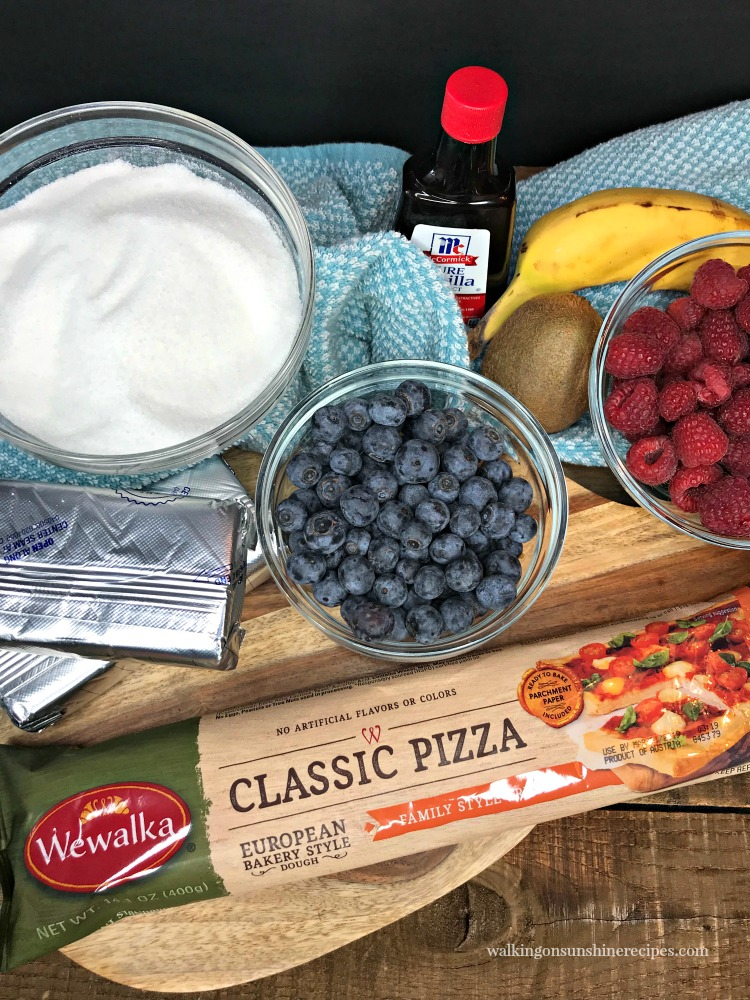 Ingredients for Easter Egg Pizza