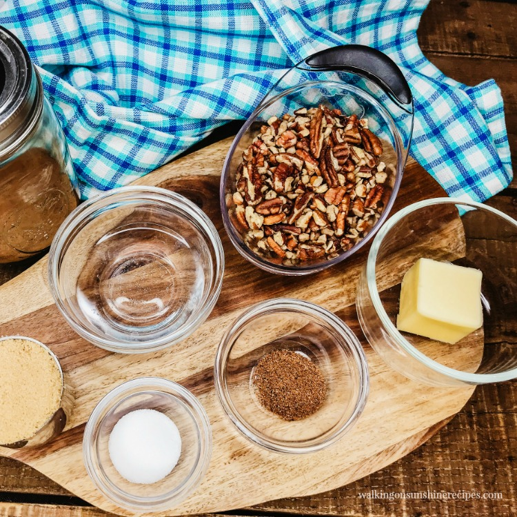 Ingredients for Pecan Praline Topping from WOS