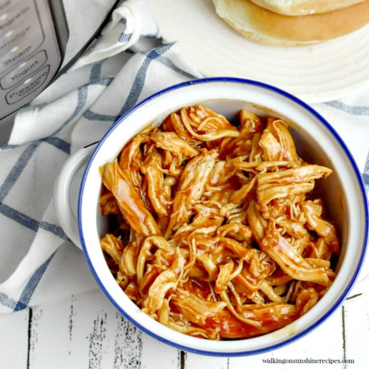 Instant Pot BBQ Chicken Sandwiches