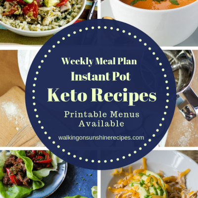 Weekly Meal Plan: Instant Pot Keto Recipes