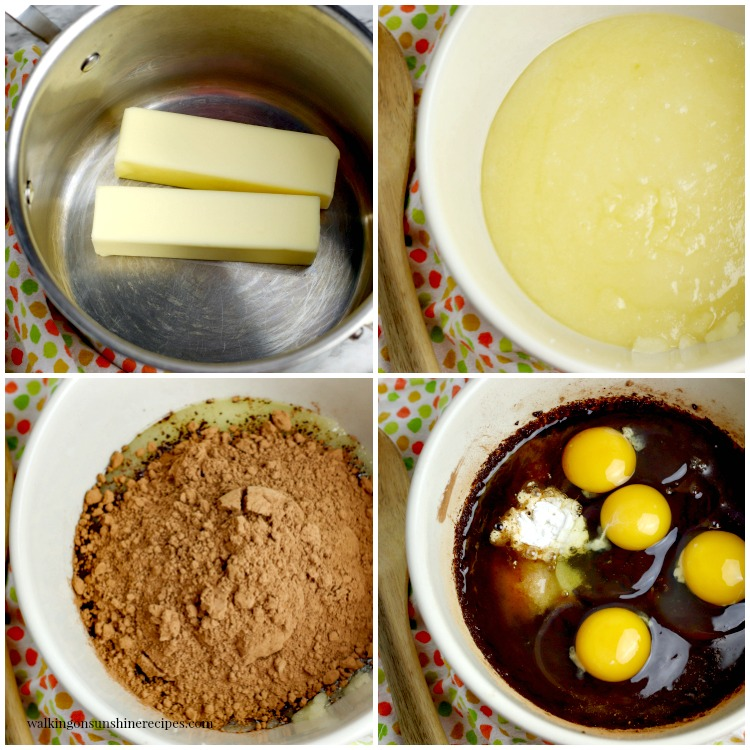 Process photos for Homemade Brownies