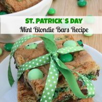 Mint Blondie Bars Recipe | St Patrick's Day Idea
