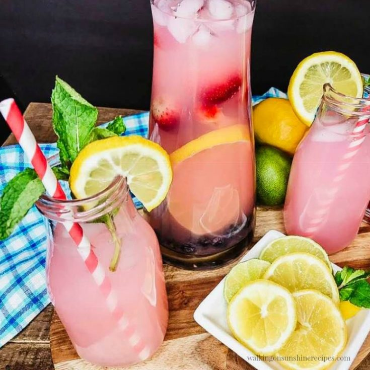 Strawberry Lemonade Punch Recipe