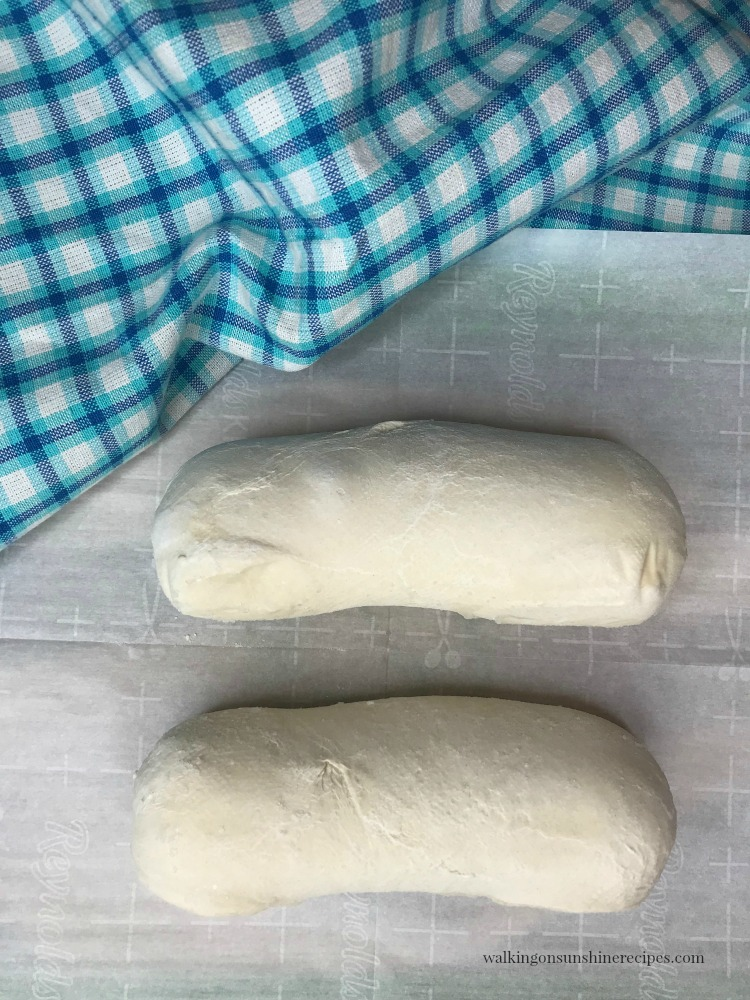 Two loaves of Rhodes Frozen Bread Dough for Italian Easter Bread