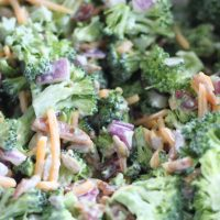 Keto Broccoli Salad With Bacon- The Best Cold Broccoli Salad Recipe