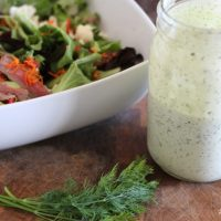 Buttermilk Dill Salad Dressing * sparkle living blog