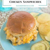 Crock Pot Hot Cheesy Chicken Sandwiches