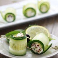 Cucumber Feta Rolls | Easy Holiday Appetizer