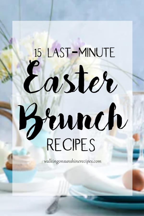 14 Easter Brunch Recipes