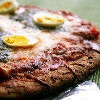 Hard Boiled Eggs & Pesto Pizza