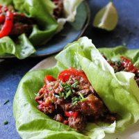 Instant Pot Beef Lettuce Wraps