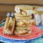 Caramel Snickerdoodle Gelato Sandwiches